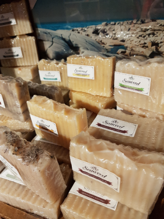 """""""SEAWEED"""" SOAP  $10  Proudly made in Nova Scotia"""