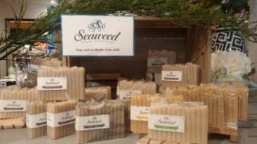 LOCAL SEAWEED SOAPS  $8.00 ea.- 2/ $15.00 - 3/ $22.00