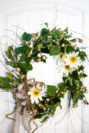 Secret Garden Silk Wreath