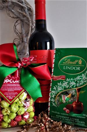 SECRET SANTA Wine, chocolates and popcorn
