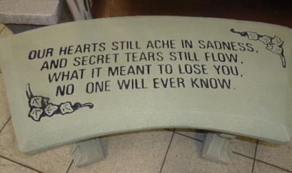 Secret Tears Cement Garden Bench