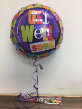 Section of get well balloons