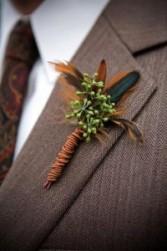 Seeded Eucalyptus Boutonniere