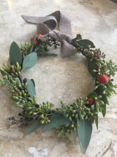 Seeded Eucalyptus Hair Wreath