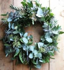 seeded greenery wreath Winter Flowers