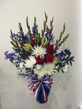 Semper Fi  Vase Arrangement