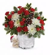 """Send a Hug"" Bear Buddy Holiday Bouquet"