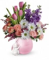 Send A Hug Bunny Love Bouquet Teleflora