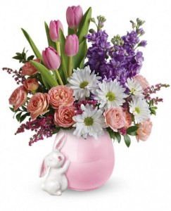 Send A Hug Bunny Love Bouquet Teleflora in Springfield, IL | FLOWERS BY MARY LOU INC