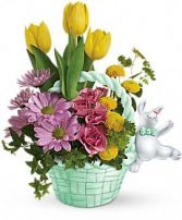 Exclusively at Flowers Today Florist Bunny Hop into Spring, Ceramic Keepsake Container