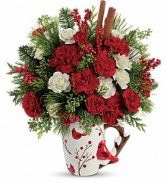 Send a Hug Christmas Cardinal by Teleflora Arrangement