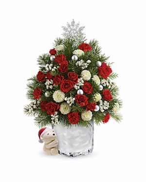 Send a Hug Cuddly Christmas Tree Teleflora in Springfield, IL | FLOWERS BY MARY LOU INC