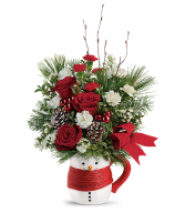 Send a Hug Festive Friend Bouquet by Teleflora Christmas Arrangement