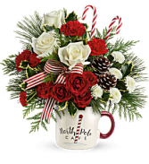 Send a Hug North Pole Cafe Mug Arrangement