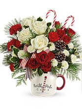 Send a Hug North Pole Cafe Mug by Teleflora