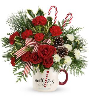 Send a Hug North Pole Cafe Mug by Teleflora Only 12 left! in Mount Pearl, NL | MOUNT PEARL FLORIST