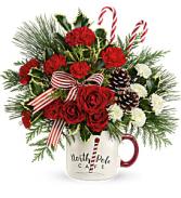 Send  a Hug North Pole Mug Arrangement