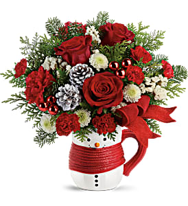 Send a Hug Snowman Mug T19X500B Bouquet