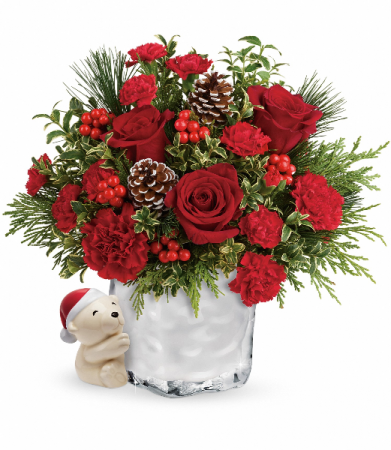 Send a Hug Winter Cuddles by Teleflora Christmas Arrangement
