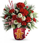 Send A Hug Winter Sips Bouquet    T18X500 Keepsake Arrangement
