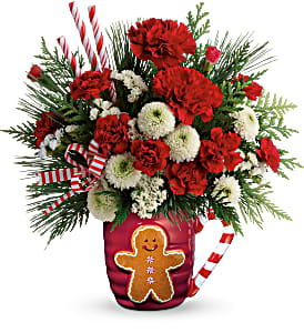Send A Hug Winter Sips Christmas Arrangement in Winnipeg, MB   Ann's Flowers & Gifts