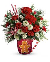 Send a Hug Winter Sips Mug  Christmas arrangement