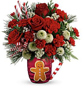 Send A Hug Winter Sips T18X500B Bouquet