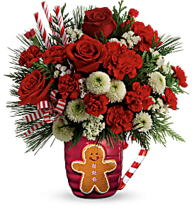 Send a Hug Winter Sips Teleflora in Springfield, IL | FLOWERS BY MARY LOU