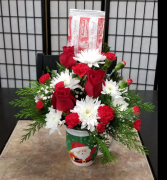 Send a Mug  with Hot Chocolate 1 Sided Bouquet