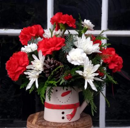 Send a Snowy Smile Mug Arrangement