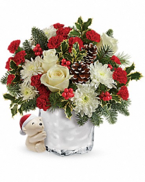 Send 'em a Hug Bear Keepsake Arrangement