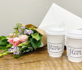 Send Joy BOGO: Bouquet, Pastries and Coffee Bouquet, Pastries and Coffee