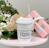 Send Joy: Bouquet, Pastries and Coffee
