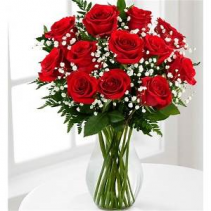 Send Red Roses Right Over Arrangement