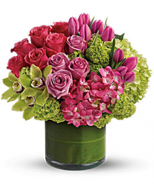 Sensation Medley Vase Arrangement in Sunrise, FL | FLORIST24HRS.COM