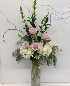 Sensational Roses & Hydrangeas  Cylinder  in Troy, MI | DELLA'S MAPLE LANE FLORIST