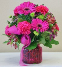 SENSATIONALLY RASPBERRY Arrangement of Flowers