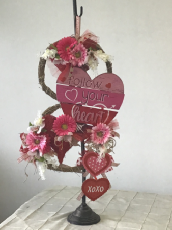 Sent with love Hanging everlasting arrangements