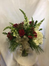 Sentimental Christmas Vase