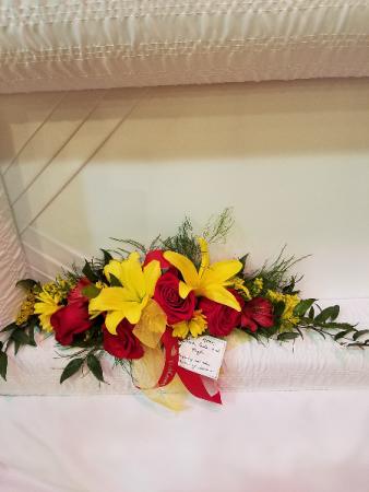 Sentimental Thoughts Casket Flowers for Inside Lid