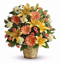Sentiments Basket Arrangement