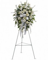 Sentiments of Serentity Spray Sympathy Arrangement