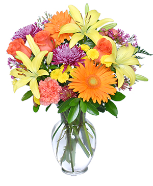 SEPTEMBER SUN Bouquet of Flowers in Oxnard, CA | Mom and Pop Flower Shop