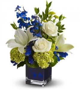 Serenade In Blue HFWEB606 in Henniker, NH | HOLLYHOCK FLOWERS