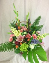 Serene Basket Arrangement