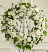 serene blessing standing wreath