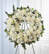 Serene Blessings White Wreath