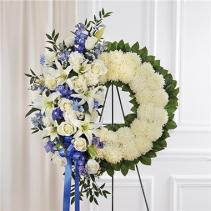 Serene Blessings™ Blue & White Standing Wreath