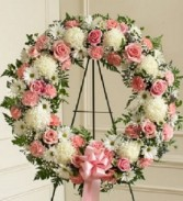 Serene Blessings Pink & White (Standard) Standing Spray