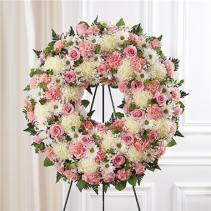 Serene Blessings™ Pink & White Standing Wreath